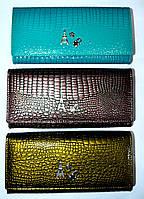 Женские кошелеки из натуральной кожи BaliSa (графит; бирюза; болотный)