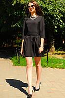 "Черное короткое платье ""MASERATI"""