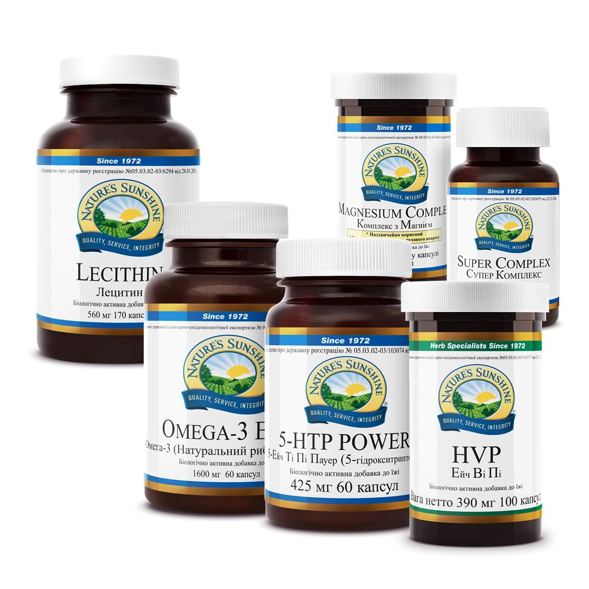 """Витамины для нервной системы - Набор """"Антистресс"""" БАДы НСП  антидепрессанты нового поколения."""