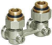 """Узлы нижнего подключения для радиаторов с внутренней резьбой 1/2' Basicline (Rossweiner) Meibes Тип E1/50 угловой, 1/2""""HPx3/4""""HP"""
