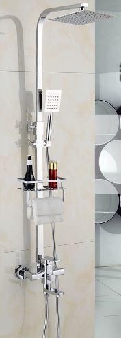 Душевая стойка колона с верхним душем полочкой 0228