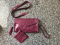 Кожаный женский кошелек (кожаная женская сумка) ручной работы Hordi