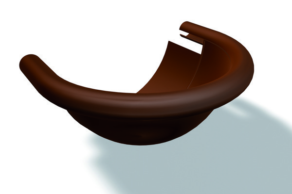 Заглушка полукруглая желоба Prefa правая/левая алюминий, размер 333(150)