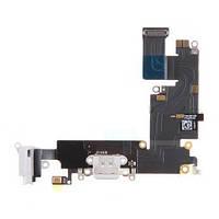 Шлейф для iPhone 6 Plus (5.5) айфон с разъемом зарядки и наушников, цвет белый