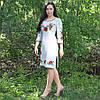 Женское льняное платье с вышивкой, фото 2