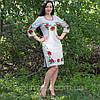 Женское льняное платье с вышивкой, фото 3