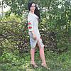 Женское льняное платье с вышивкой, фото 4
