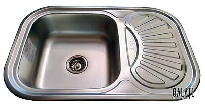 Мойка кухонная матовая (75*49*18 см) Galati Stelă Textură 8476, фото 3