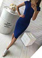 Платье (48-52) футляр Midi цвета в ассортименте синее