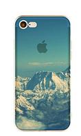 Прозрачный силиконовый чехол с горами iphone 7/7S в 3D