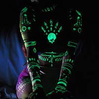 Флеш тату | flash tattoo светящиеся татуировки большие листы