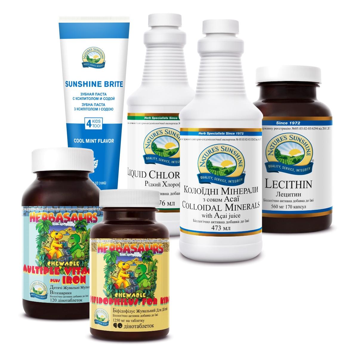 """Набор """"Здоровый ребёнок"""" Бад НСП - натуральные витамины  для роста и развития  детей, для детей спортсменов."""
