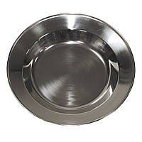 Тарелка из нержавеющей стали 23 см MFH 33393
