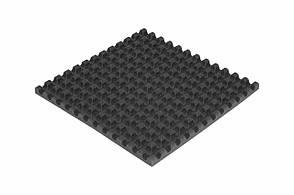 Пористий поролон Ecosound хвиля 1мХ1мХ30мм чорний графіт