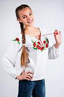 Вышиванка с длинным рукавом на рост 152 -164 см