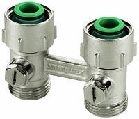 Узлы нижнего подключения для радиаторов с наружной резьбой 3/4'' Exclusiveline (Simplex) Meibes
