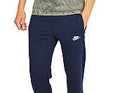 Синие мужские трикотажные штаны спортивные NIKE