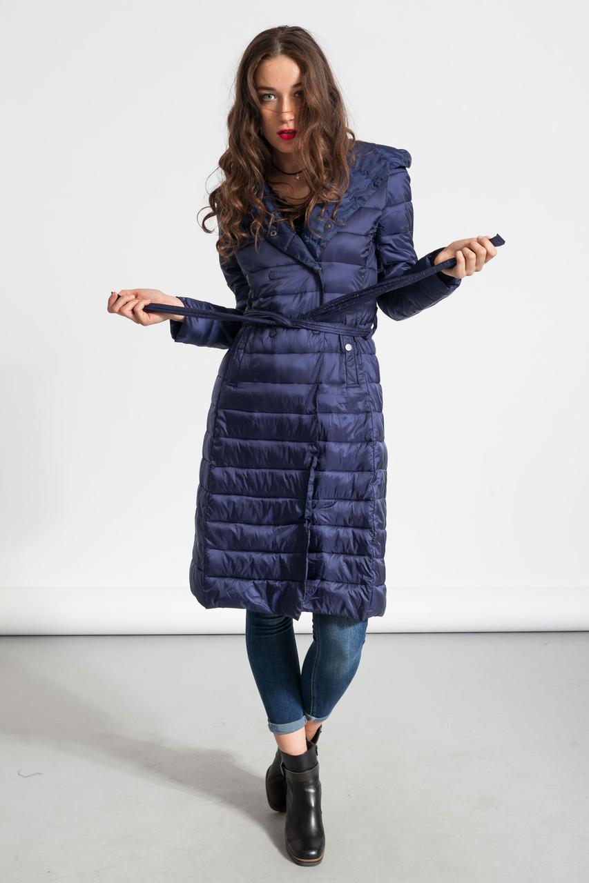 Куртка женская длинная Glo-Story, синий цвет
