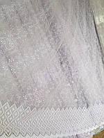 Тюль из фатина с вышивкой, код-1158, фото 1
