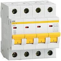 Автоматический выключатель ВА47-29 4Р 6А 4,5кА х-ка D ИЭК