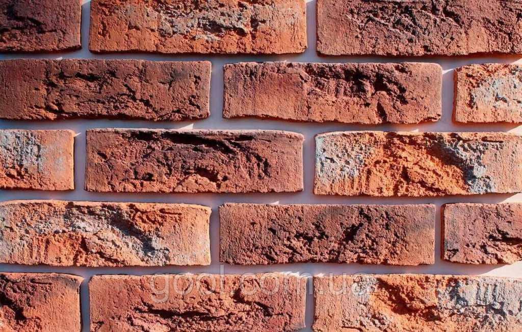 Плитка цементная под кирпич цвет Бельгийский 15 размер 240х15х71 мм.