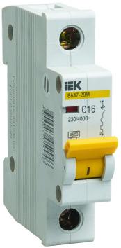 Автоматический выключатель ВА47-29М 1P 8A 4,5кА х-ка D ИЭК