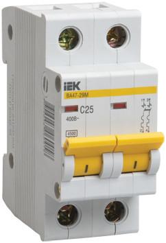 Автоматический выключатель ВА47-29М 2P 63A 4,5кА х-ка D ИЭК