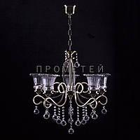 Люстра на 5 лампочек (античная бронза). P3-4629/5/AB+CL