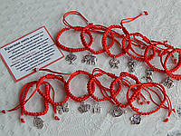 Браслет красная нить с разными красивыми кулонами
