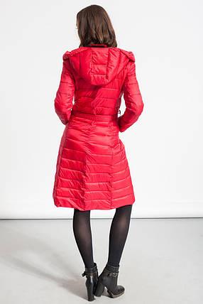 Куртка женская длинная Glo-Story, красный цвет, фото 2