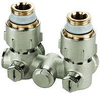 Узлы нижнего подключения для однотрубных систем для радиаторов с внутренней резьбой 1/2'' Meibes