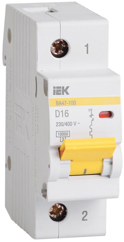 Автоматический выключатель ВА47-100 1Р 40А 10кА х-ка D ИЭК