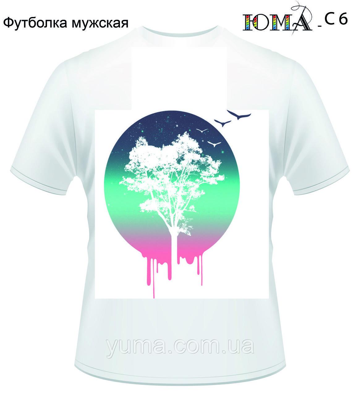"""Мужская футболка с рисунком """"Дерево жизни"""""""