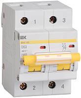 Автоматический выключатель ВА47-100 2Р100А 10кА х-ка D ИЭК, фото 1