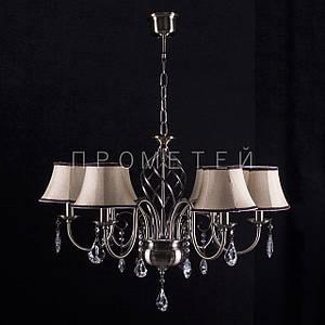 Люстра на 6 лампочек для высоких потолков  (античная бронза). P3-4677/6A/AB