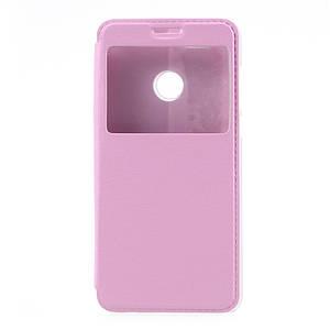Чехол книжка для Huawei Nova 2 Plus боковой с окошком, Розовый