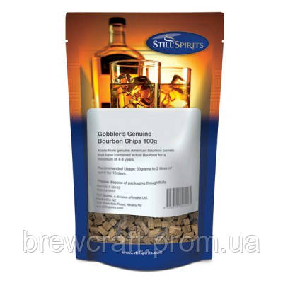 Дубовая щепа Still Spirits Gobbler's Bourbon Chips 100 грамм