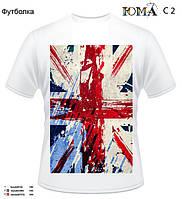 "Мужская футболка с рисунком ""Флаг Великобритании"""
