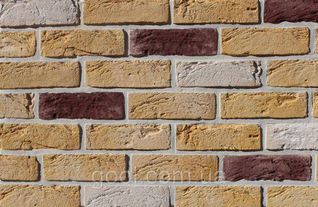 Плитка цементная под кирпич цвет Тоскана размер 210х15х65 мм