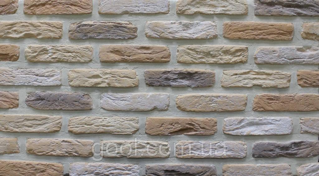 Плитка цементная под кирпич цвет МФ 50 Крем размер 190х20х50 мм