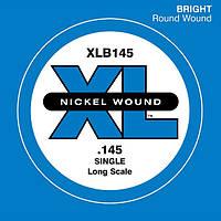 Струна для бас гитары (1 шт) D`ADDARIO XLB145 XL NICKEL ROUND WOUND SINGLE 145
