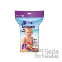 Подгузники-трусики детские для плавания Libero Swimpants Medium 10-16 кг 6 шт.