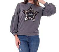 Батник со звездой коттоновый женский (двунитка) , фото 1