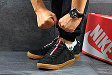 Мужские кроссовки Nike SB замшевые черные, фото 2