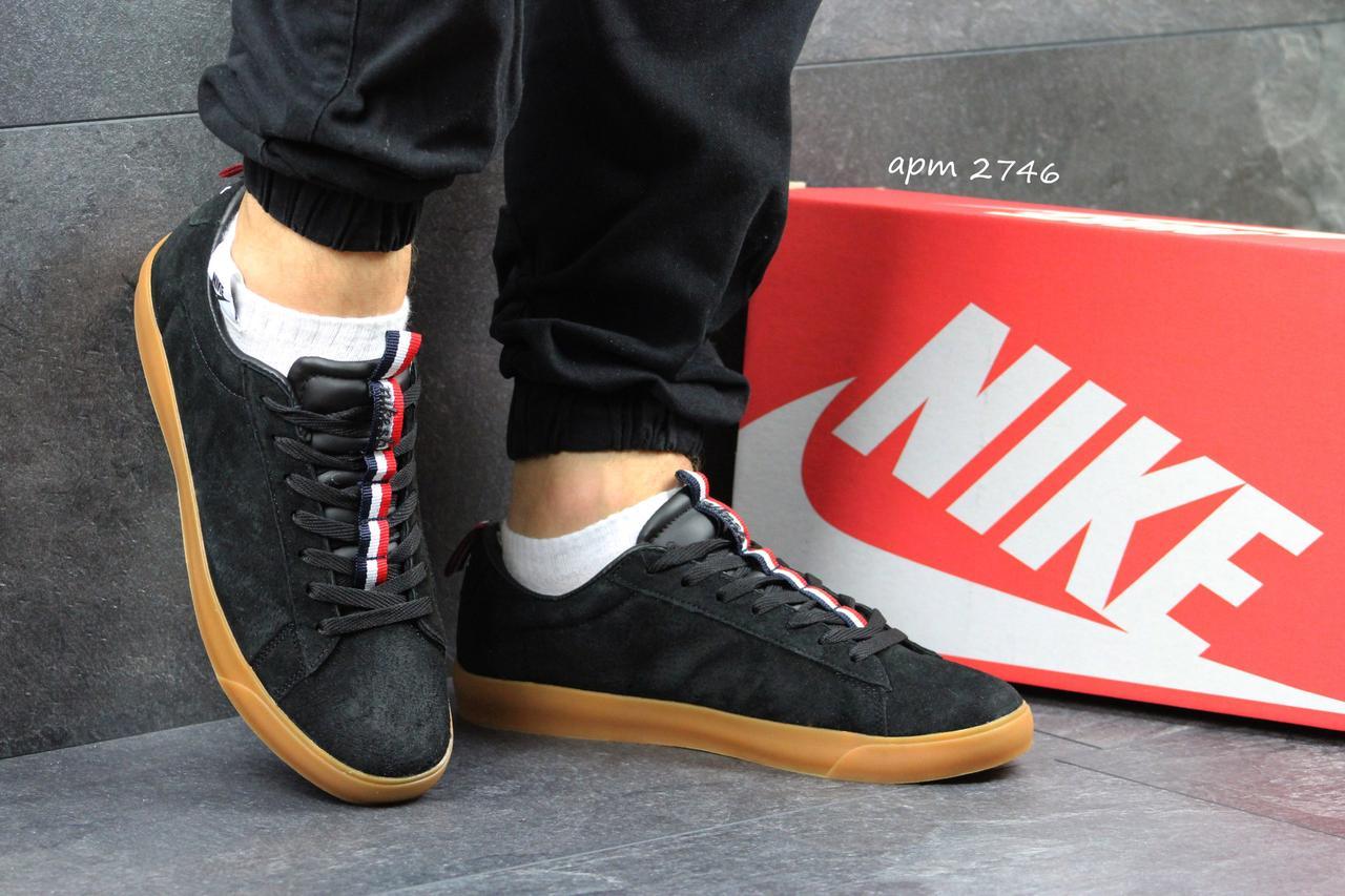 Мужские кроссовки Nike SB замшевые черные