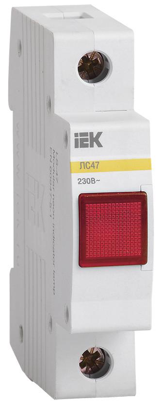 Сигнальная лампа ЛС-47 (красная) (неон) ИЭК