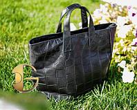 Женская черная сумка Furlа под питон на молнии, экокожа