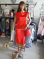 Женский костюм летний юбка блуза яркий дизайнерский