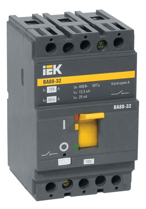Автоматический выключатель ВА88-32 3Р 12,5А 25кА ИЭК