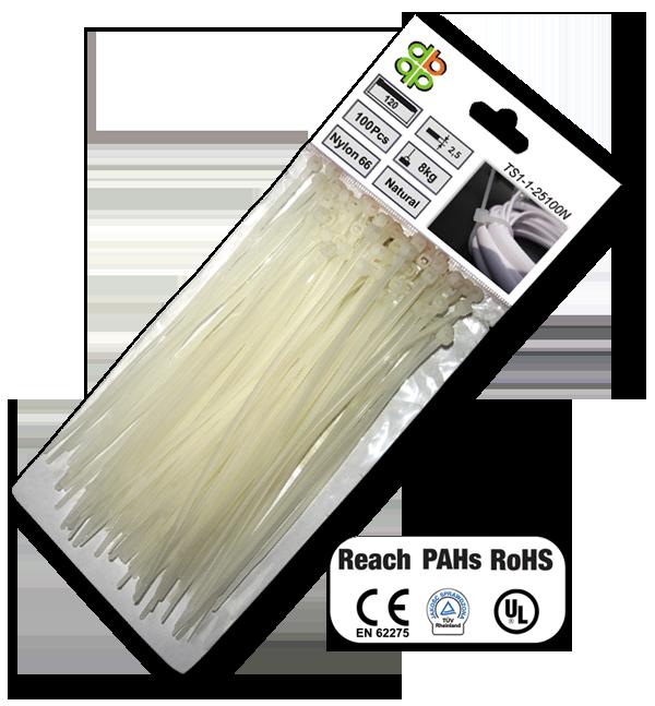 Стяжки кабельные пластиковые белые  3,6*150 мм